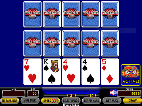 Multiple hand video poker machines jackpot casino slots free coins
