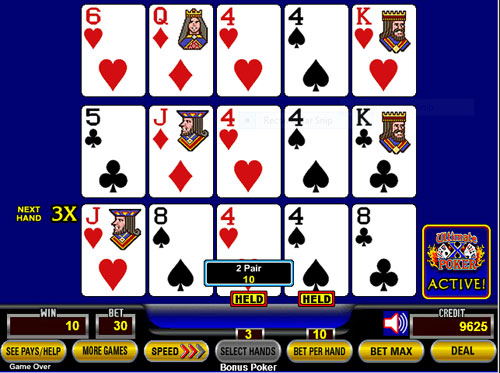 10 hand video poker strategy presidential race gambling odds